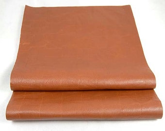 UPCYCLED RUSTY BROWN Leather  2 Pieces  Reclaimed Genuine Hide Thin with Light Shine 1301