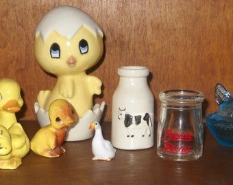 Misc. Figurines - Farm Animals - Country - Ducks - Chick - Rooster - Rabbit - Dairy