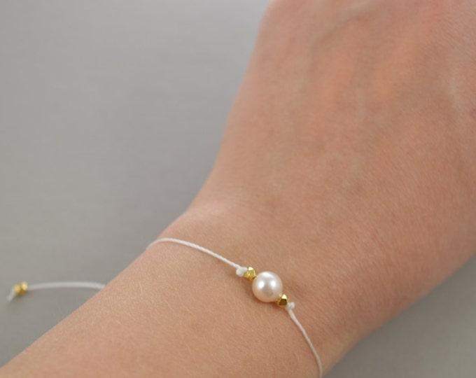 Pearl Bracelet, real akoya pearl bracelet, June Birthstone, best friend gift, minimalist jewelry, best friend bracelet, beaded bracelet