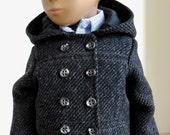 Gray Tweed Coat for Sasha Gregor Doll
