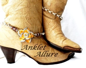 Lil Sunshine Boot Chains Flower Boot Jewelry BoHo Boot Jewelry Foot Jewelry Boot Bracelets