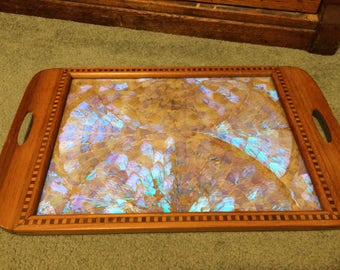 Amazing Butterfly Wing Vintage Wooden Trayy