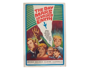 The Day Mars Invaded the Earth - Original 1960's Movie Poster