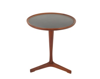 Hans C. Andersen Danish Modern Occasional Table // Pedestal Table // Modernest Side Table  // Teak