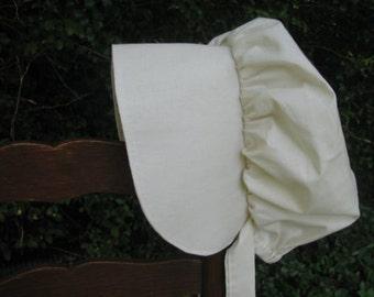 Prairie bonnet, 6 years to adult, pioneer, frontier, Ivory
