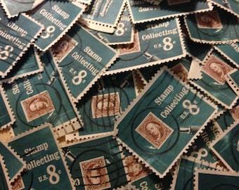 100 Stamp Collector -  postage stamps - philatelist, collector, destash, stamp lover, postage stamp lover, philately, philatelic
