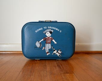 Vintage Children's Suitcase Going to Grandma's