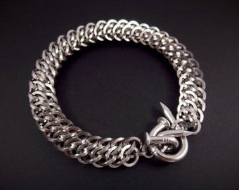 Nailed Stainless Steel Square GSG Unisex Chainmaille Bracelet