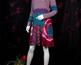 Tee dress upcycled by Niknok