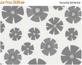 40% OFF SALE - PURE  -  Stof of Denmark - Stamped Flower in Gray (4506-204) - By the Yard