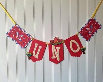 Fiesta Decorations - Fiesta High Chair Banner - First Birthday Fiesta - Fiesta Party Decorations - First Fiesta - Fiesta Party Banner