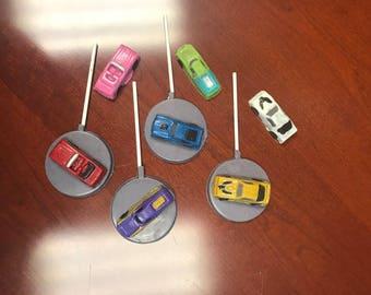 Hot Wheels inspired Chocolate car lollipops