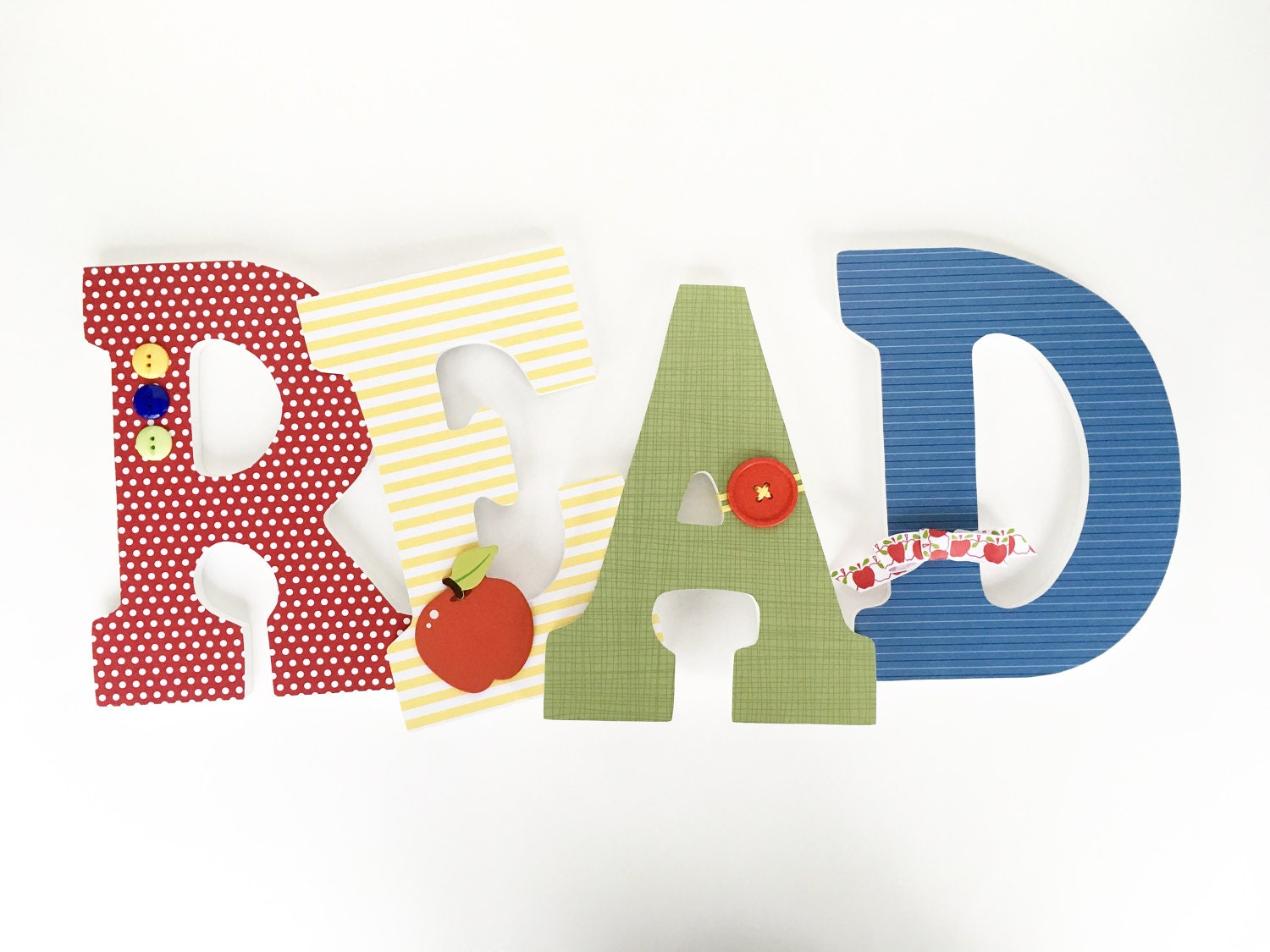 read custom wooden letters nursery decor unisex bedroom With read wooden letters