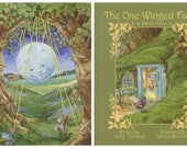 The One-Winged Fairy & Other Tales 2nd Edition Signed Children's Book with a signed Hanging the Moon 8.5x11 print