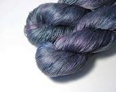 Pure Silk MERIDIAN - 110g - Victorian Picnic Series - Grey Iridescence 2 - One of a Kind