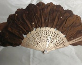 Gold and cocoa reproduction Jenny Lind fan