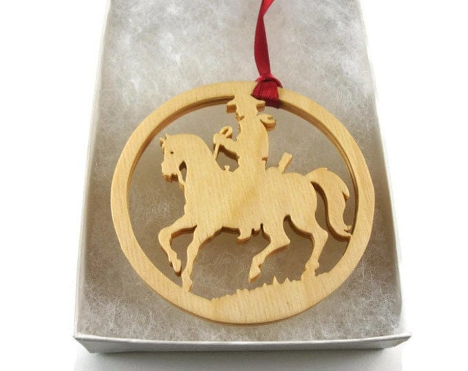 Prancing Show Horse Christmas Ornament Handmade From Birch Wood By KevsKrafts