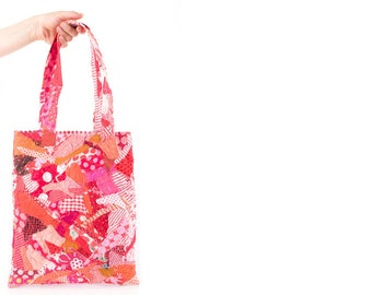 Shoulder bag , Recycled handbag , upcycled Quilt , Medium tote , Crazy Patchwork , Hippie Handbag , Textile Handbag, One Of A Kind Tote
