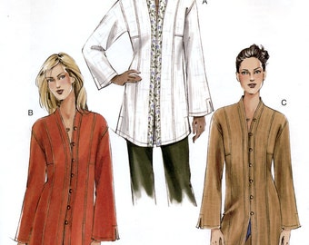 Vogue V7854 Sewing Pattern for Misses'/Misses' Petite Tunic - Uncut - Size 8, 10, 12
