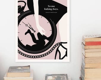 """Literary Art Prints, """"Charlotte Perkins Gilman"""" Quote Minimalist Poster, Large Wall Art Print, Feminist Art,  Literary Gifts for Her"""