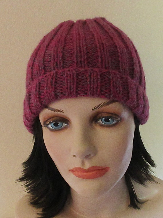 Pink Knitted Hat Cold Weather Accessory Ski Hat Snow Playing Hockey Mom Ice Skating