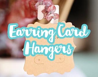Earring Card Hangers, Hanging Card Adapters, Jewelry Display Hanger, Peg Hole Tab, Peel and Stick Self Adhesive Plastic Hook