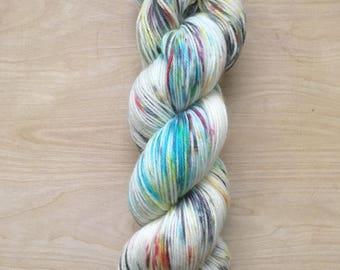 Speckle spectrum superwash merino sock yarn