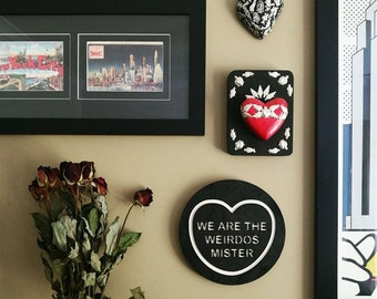 We are the Weirdos, Mister Candy Love Heart Wall Hanging.