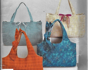 Simplicity 4625 Misses Bags Handbags Totes Purses 2 Designs Sewing Pattern UNCUT Summer Beach Fabric