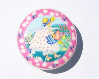 1 ONE Mary Quite Contrary Nursery Theme  girls kids Dresser Drawer Knob