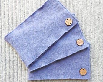Cashmere Earwarmer Headband POWDER  BLUE Ear Warmer Head Band Upcycled Sweater by WormeWoole