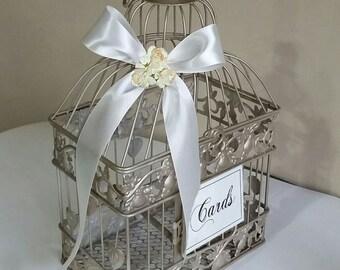 Small Bird Cage-Wedding card holder