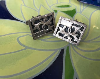 Vintage Sterling Silver Cuff Links. Cuff Links. Men's Cuff Links. Sterling Cuff Links. Mens Gift. Fathers Day