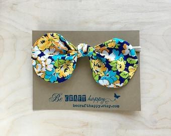 Bow Headband - Cobalt Floral