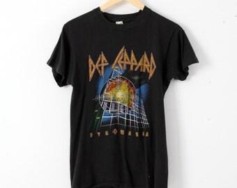 vintage Def Leppard t-shirt, 1983 Pyromania tour