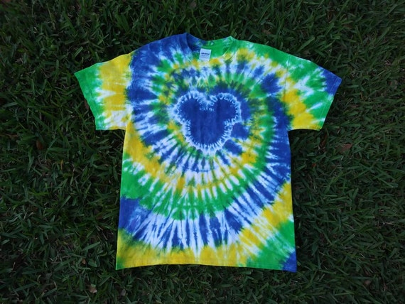 Kids custom mouse head tie dye shirts in toddler youth for Customized tie dye shirts