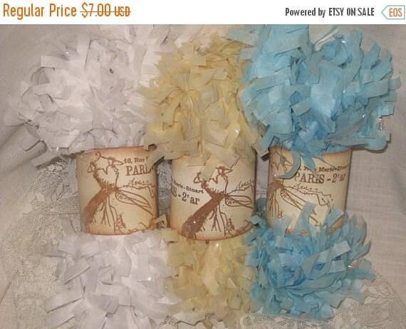 Sale Tissue Paper Garland Festoon French Feston 6 Yards (18 Feet) Baby Boy Soft