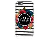 iPhone 7 Case, iPhone 7 Plus, iPhone 6, iPhone 6S, iPhone 6 Plus, iPhone 6S Plus, Google Pixel, Galaxy S6, Phone Case, : Stripes & Flowers