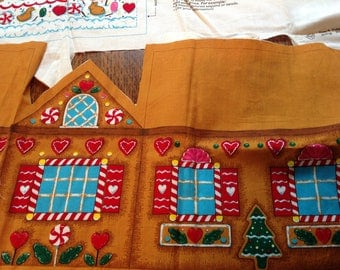 Gingerbread House Panel, Stuffed Gingerbread House, Sewing Panel, Make a Gingerbread House