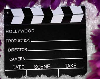 """Hollywood Theme Photo Prop Movie Clapboard Clapper Director Board 8""""x7"""""""
