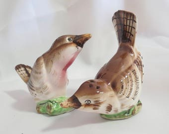 Vintage Novelty Wren Bird Salt and Pepper Shakers