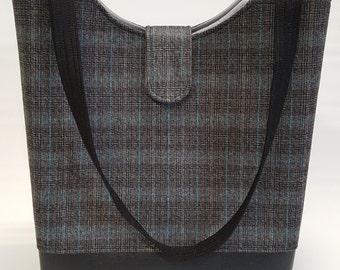 Sale!  Sophia Tote Bag in Plaid Suiting