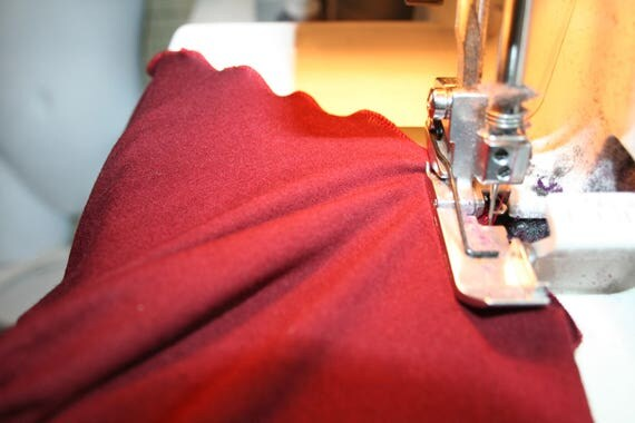 Burgundy Cotton Lycra (by the Yard)