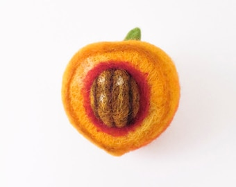 Needle Felted Ornament - Peach