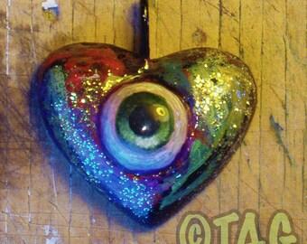ORIGINAL OOAK Eye-Heart Pendant Necklaces by Tom Taggart