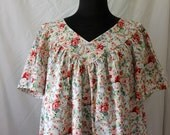 Casual Dress House Dress Day Dress Women's L-2X Coral Floral