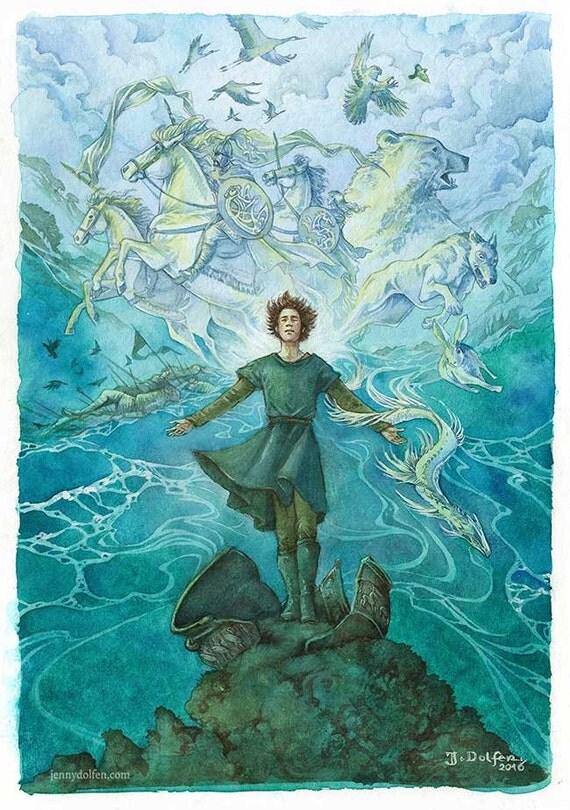 Earth and Sea and Sky - facsimile print
