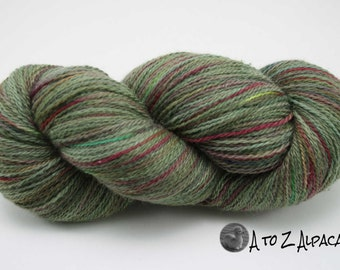 SUPER-SIZED SKEIN! Hand Dyed Royal Baby Alpaca Yarn Sock Weight - Grandma's Garden