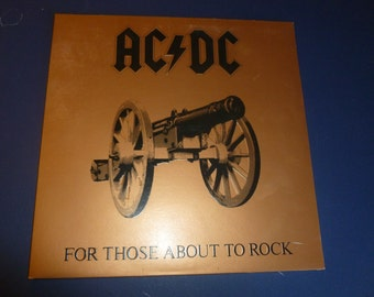 AC/DC For Those About To Rock Vinyl Record 1981 SD 1111 Very Good Condition