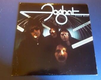 Foghat Stone Blue Vinyl Record LP BRK 6977 Bearsville Records 1978